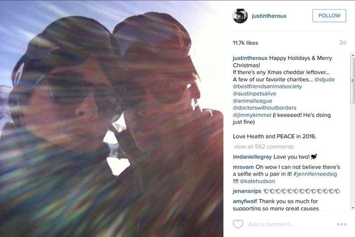 H τελειομανής Aνιστον ενέδωσε στην πρώτη selfie με τον σύζυγό της [Φωτό]