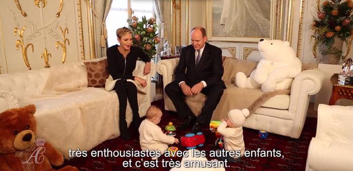 Τα πριγκιπικά Χριστούγεννα στο παλάτι του Μονακό:Αλβέρτος, Σαρλέν & διδυμα - εικόνα 3