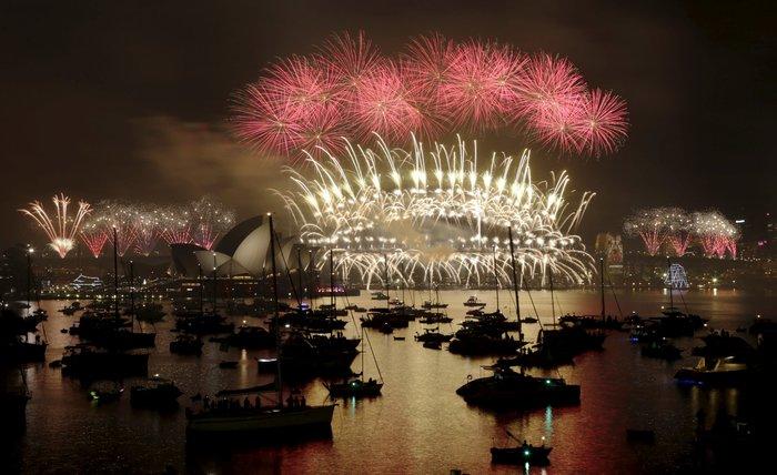 Εντυπωσιακά πυροτεχνήματα για το νέο έτος σε Νέα Ζηλανδία και Αυστραλία - εικόνα 4