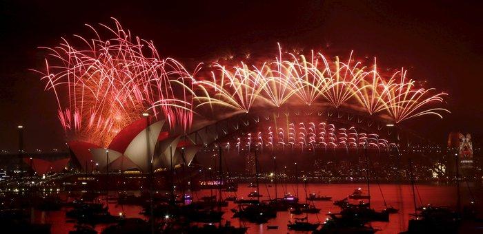 Εντυπωσιακά πυροτεχνήματα για το νέο έτος σε Νέα Ζηλανδία και Αυστραλία - εικόνα 5