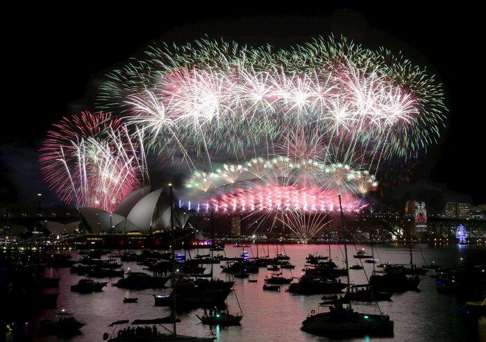 Εντυπωσιακά πυροτεχνήματα για το νέο έτος σε Νέα Ζηλανδία και Αυστραλία - εικόνα 8