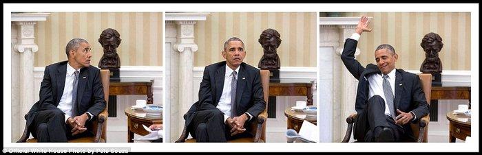 Τα πορτρέτα ενός Προέδρου: Οι καλύτερες στιγμές του Ομπάμα το 2015 - εικόνα 13