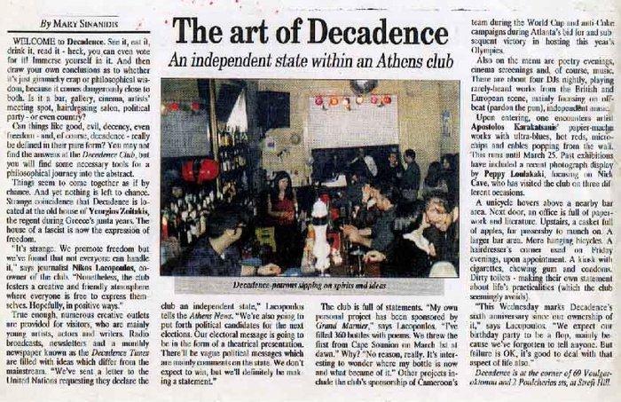 the art of Decadence