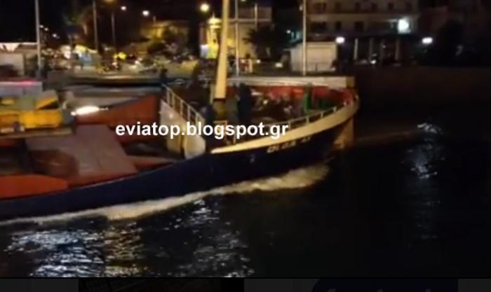 Πλοίο έπεσε στην παλιά γέφυρα της Χαλκίδας - εικόνα 2