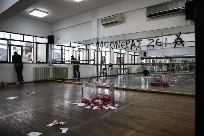 Εισβολή «Ρουβίκωνα» σε εκλογικό κέντρο της ΝΔ