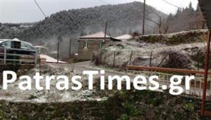 Με χιόνια ξύπνησε σήμερα η Ορεινή Ναυπακτία! - εικόνα 2