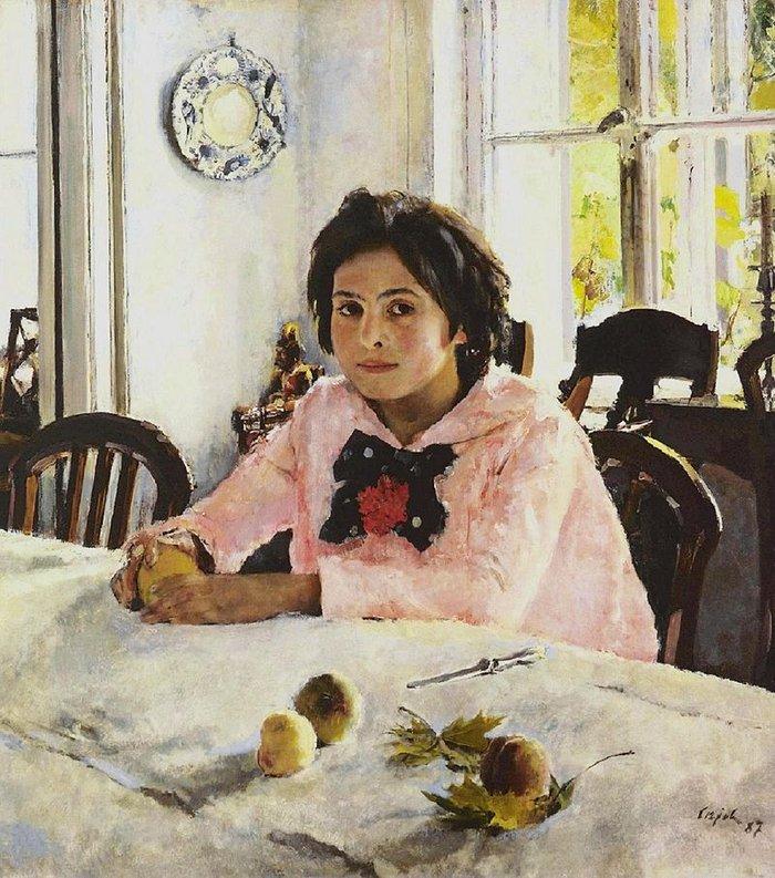 """""""Το κορίτσι με τα ροδάκινα"""" (1887, Πινακοθήκη Τρετιακόφ, Μόσχα)"""