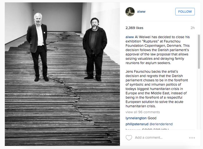 O Άι Γουέι-Γουέι αποσύρει τα έργα του από τη Δανία