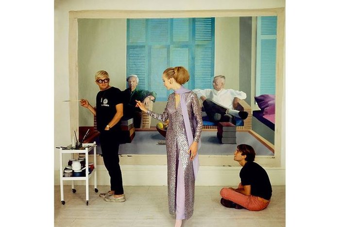 Ο David Hockney, Ο Peter Schlesinger και Η Maudie James από τον Cecil Beaton