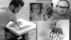 23χρονος με εκ γενετής αναπηρία συναγωνίζεται μεγάλους ζωγράφους