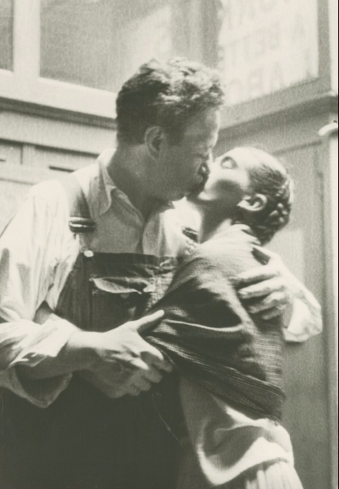 Lucienne Bloch, 'Frida and Diego Kissing,' 1933, Bentley Gallery