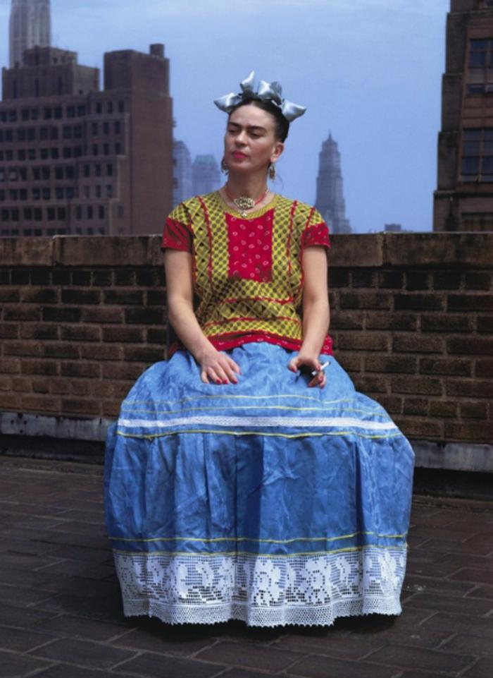 Nickolas MurayFrida Kahlo (Sitting on Roof Holding Cigarette), 1946Bentley Gallery