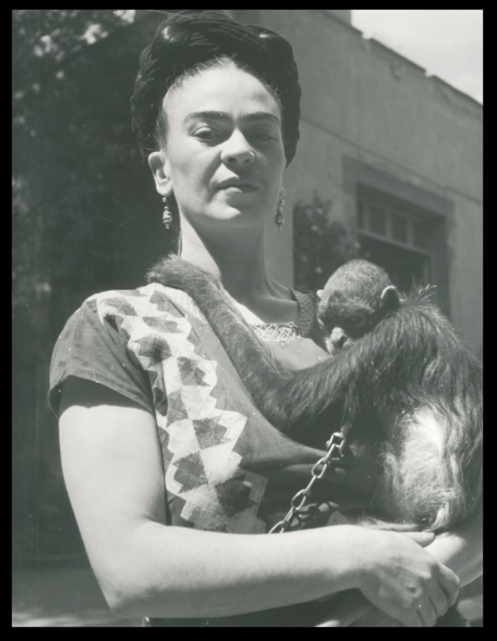 Fritz Henle, 'Frida in Front of Studio with Monkey, Coyoacan,' 1946, Bentley Gallery