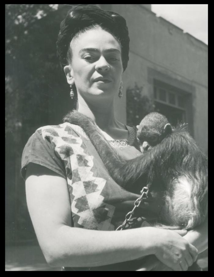 Fritz Henle, 'Frida in Front of Studio with Monkey, Coyoacan,' 1946, Bentley Gallery