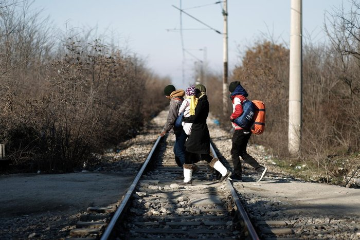 Φράχτης και στις σιδηροδρομικές γραμμές στην Ειδομένη