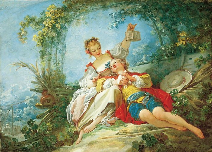 Jean-Honoré Fragonard, Happy Lovers, c. 1760–65.