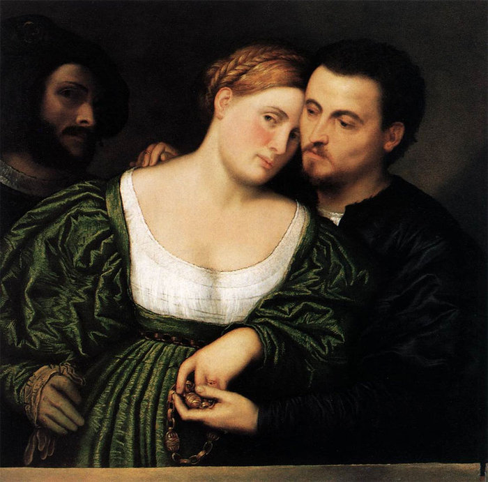 Paris Bordone. Venetian Lovers. 1525-30.