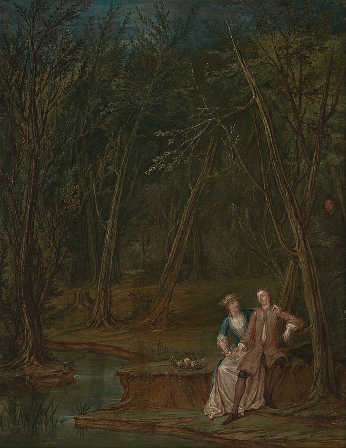 Laroon the Younger - Lovers in a glade