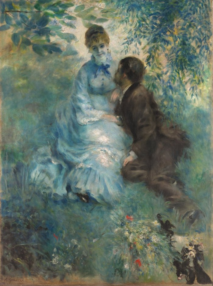 Pierre-Auguste Renoir, 1875, Lovers