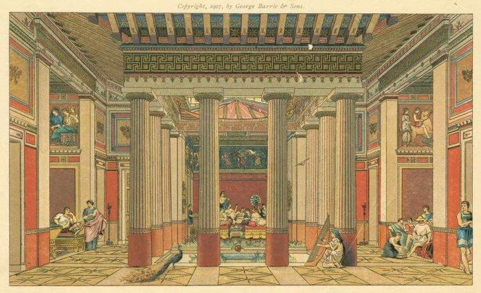 Εσωτερικού σπιτιού στην αρχαιότητα