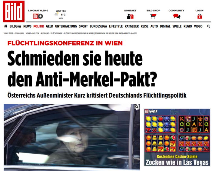 Bild: Στη Βιέννη φτιάχνουν το «Σύμφωνο Αντι-Μέρκελ»