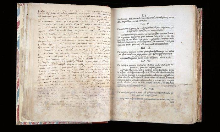 Principia Mathematica του Νεύτωνα σε πρώτη έκδοση