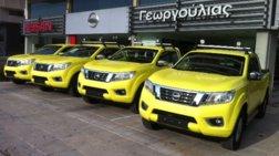 """Τα ολοκαίνουργια Nissan Navara στην υπηρεσία της """"Νέας Οδού"""""""
