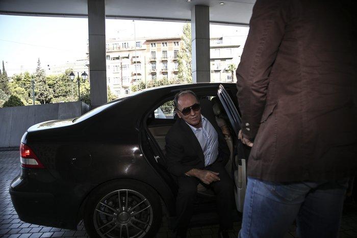Ο υπουργός Οικονομίας Γ. Σταθάκης προσερχόμενος στις διαπραγματεύσεις με τους Θεσμούς