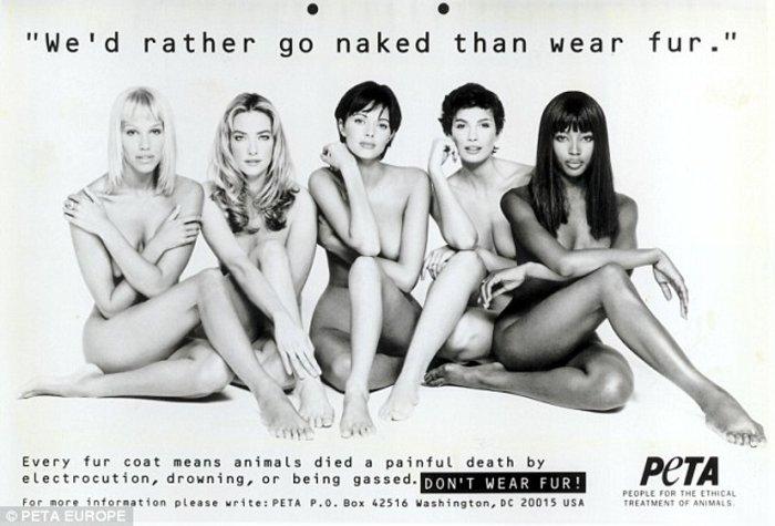 Καλύτερα γυμνή παρά με γούνα; Η Ναόμι Κάμπελ στο στόχαστρο 22 χρόνια μετά - εικόνα 2
