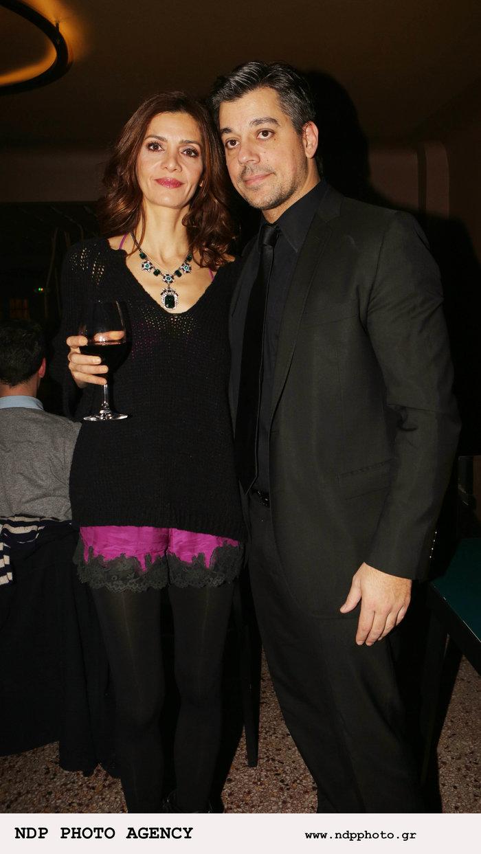 Η Κατερίνα Λέχου μαζί με τον σύζυγό της Μάνο Στρατάκη
