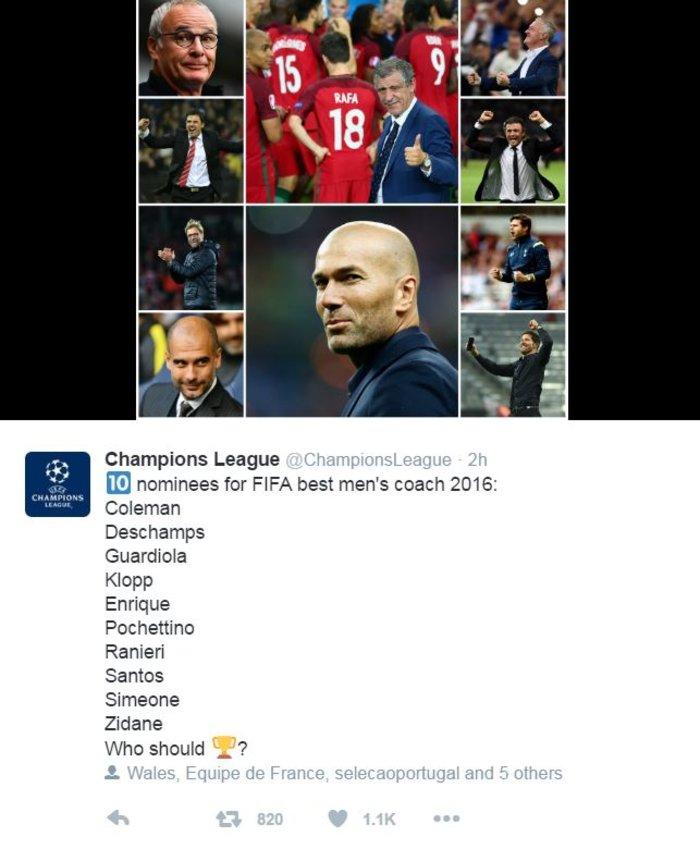 Σάντος & Ρανιέρι στη λίστα της FIFA για τον κορυφαίο κοουτς