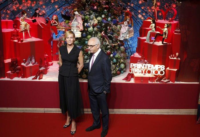 Η Ούμα Θέρμαν φέρνει τα Χριστούγεννα στο κατάστημα Printemps του Παρισιού - εικόνα 2