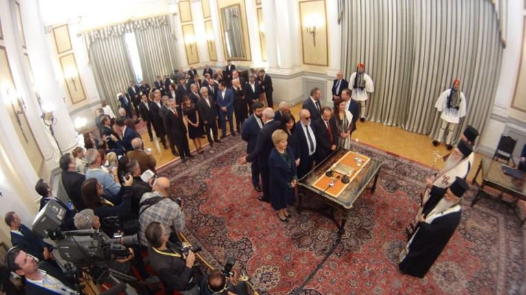Η ορκωμοσία της νέας κυβέρνησης. Πηγαδάκια & δηλώσεις υπουργών