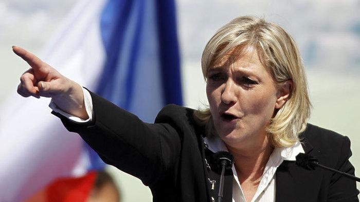 Η επικεφαλής του Γαλλικού Εθνικού Μετώπου Μαριν Λεπέν