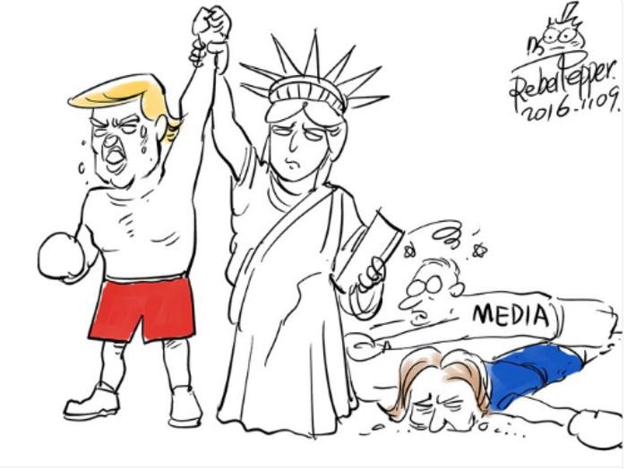 Η νίκη του Τραμπ σε 14 καυστικά σκίτσα από όλον τον κόσμο - εικόνα 3