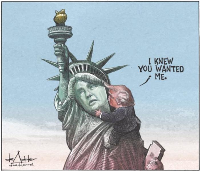 Η νίκη του Τραμπ σε 14 καυστικά σκίτσα από όλον τον κόσμο - εικόνα 7