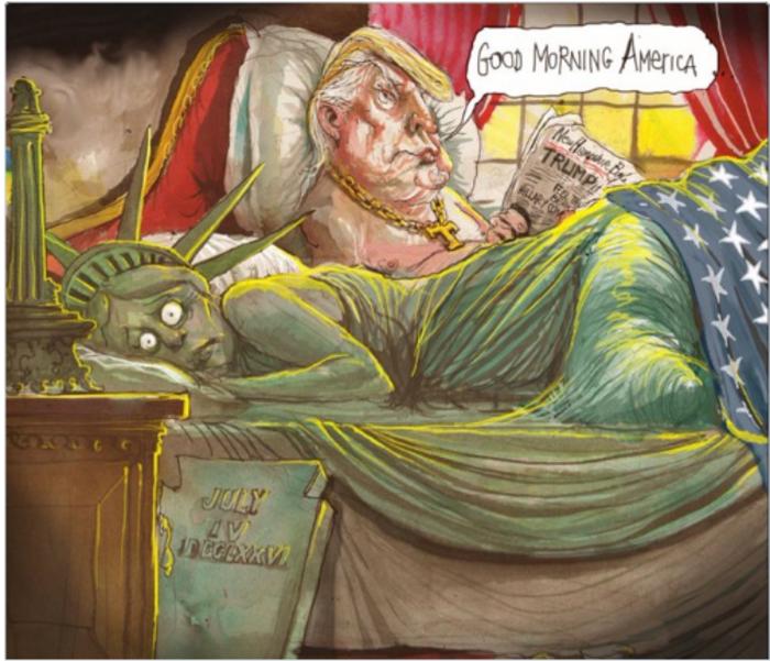 Η νίκη του Τραμπ σε 14 καυστικά σκίτσα από όλον τον κόσμο - εικόνα 12