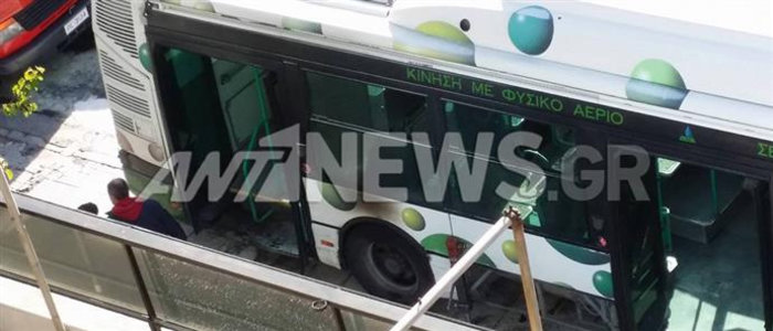 Λεωφορείο... ο τρόμος στη Μεσογείων, ξέσπασε φωτιά εν κινήσει
