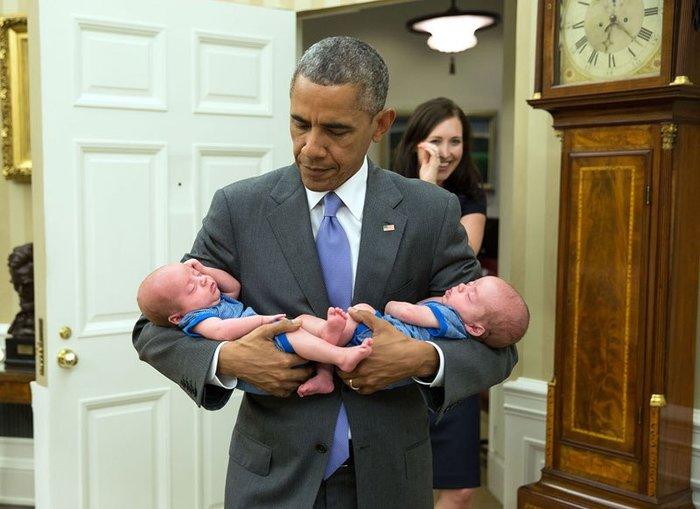 Οι 30 πιο απρόβλεπτες φωτογραφίες του Μπαράκ Ομπάμα - εικόνα 12
