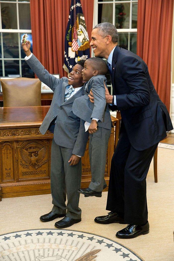 Οι 30 πιο απρόβλεπτες φωτογραφίες του Μπαράκ Ομπάμα - εικόνα 15