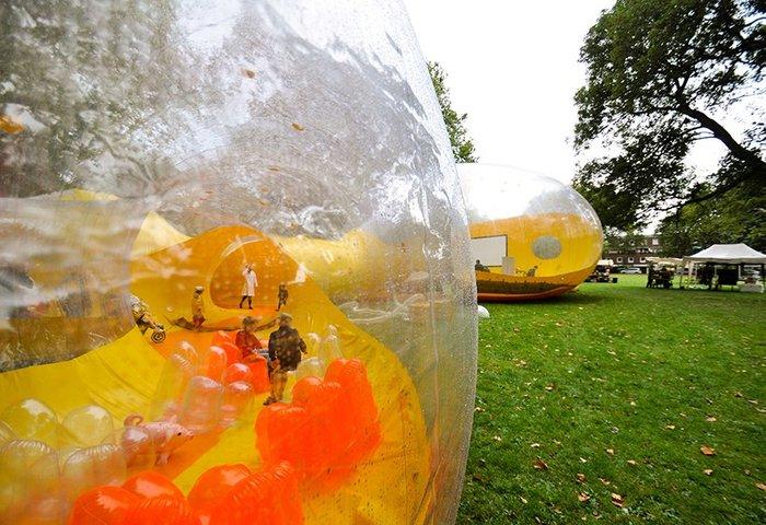 Ενα εναλλακτικό φουσκωτό περίπτερο στην καρδιά του Λονδίνου - εικόνα 10