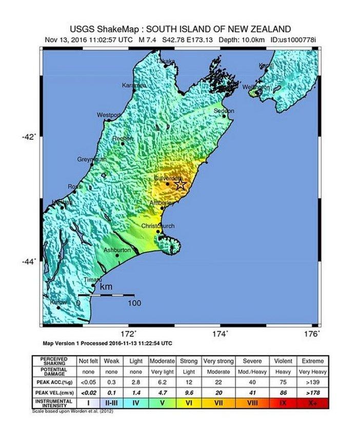 Ισχυρός σεισμός 7,8 Ρίχτερ στη Νέα Ζηλανδία με δύο νεκρούς