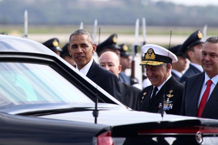 Ο Ομπάμα στην Αθήνα: Καρέ καρέ η άφιξη του 44ου Προέδρου της Αμερικής - εικόνα 13