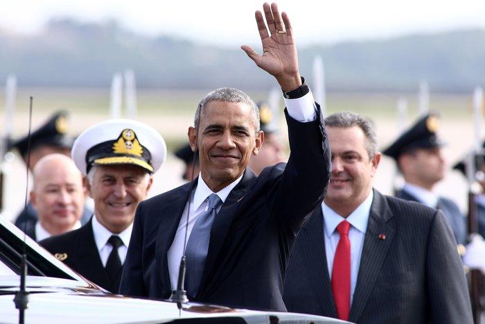 Ο Ομπάμα στην Αθήνα: Καρέ καρέ η άφιξη του 44ου Προέδρου της Αμερικής - εικόνα 16