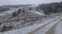 Επεσε το πρώτο χιόνι σε Μακεδονία και Πήλιο