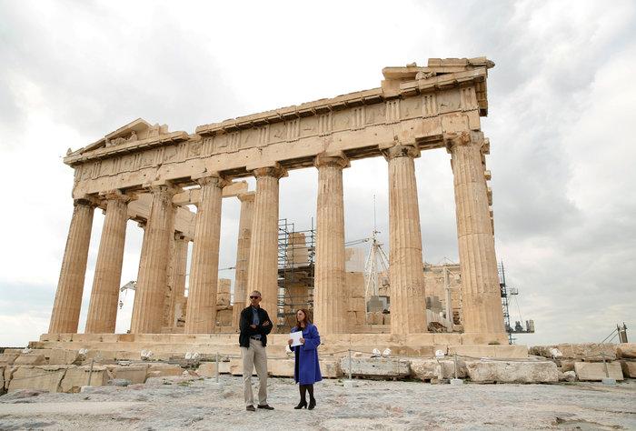 Ο Oμπάμα στον ιερό βράχο της Ακρόπολης και το Μουσείο - εικόνα 8
