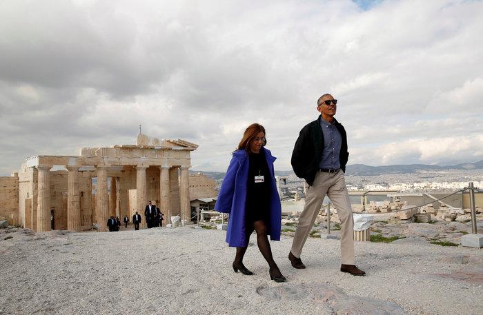 Ο Oμπάμα στον ιερό βράχο της Ακρόπολης και το Μουσείο - εικόνα 4