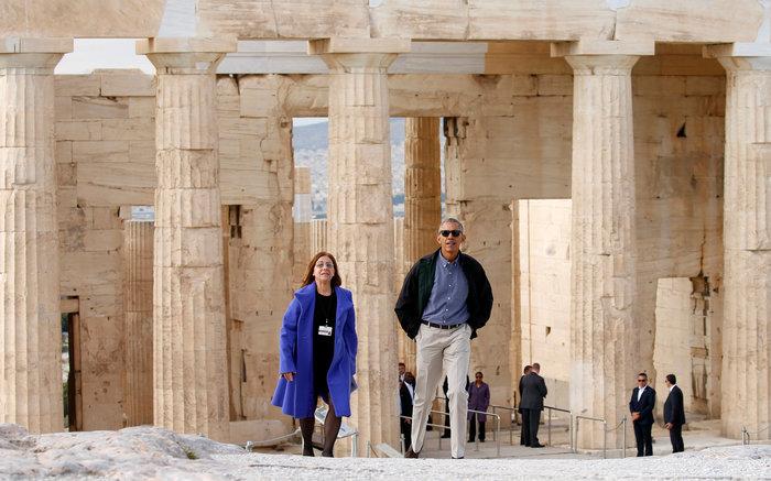 Ο Oμπάμα στον ιερό βράχο της Ακρόπολης και το Μουσείο - εικόνα 6