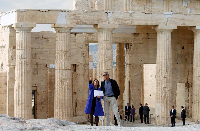 Ο Oμπάμα στον ιερό βράχο της Ακρόπολης και το Μουσείο - εικόνα 7