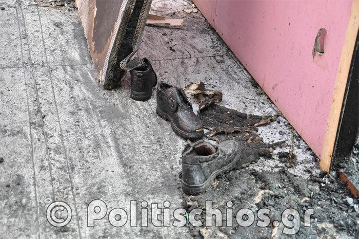 Εικόνες απόλυτης καταστροφής μετά τα επεισόδια με μετανάστες στη Χίο - εικόνα 4
